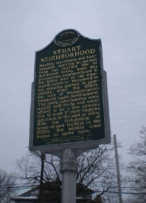 Stuart Neighborhood Marker image. Click for full size.