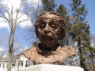 Closeup of Albert Einstein Bust image. Click for full size.