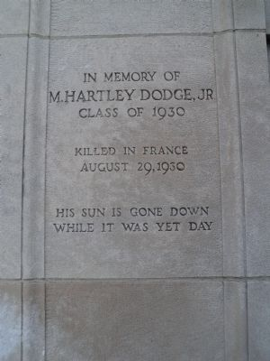 M. Hartley Dodge, Jr. Marker image. Click for full size.