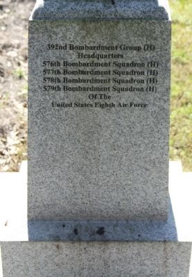 392nd Bomb Group Marker, north face image. Click for full size.