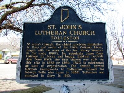 St. John's Lutheran Church Marker image. Click for full size.