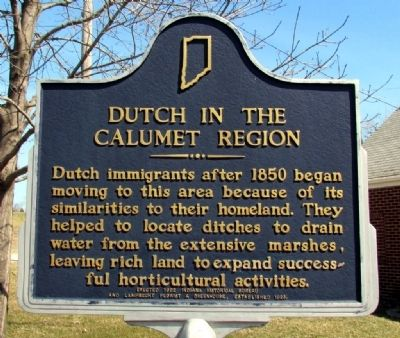 Dutch in the Calumet Region Marker image. Click for full size.