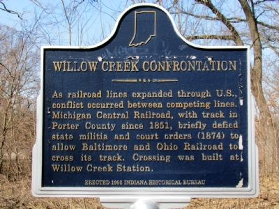 Willow Creek Confrontation Marker image. Click for full size.