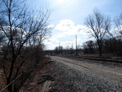 Railroad tracks of CSX Transportation headed towards the crossing image. Click for full size.
