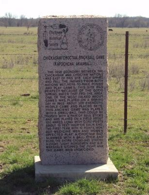 Chickasaw / Choctaw Stickball Game Marker image. Click for full size.