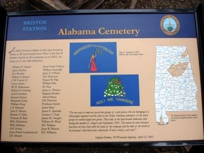 Alabama Cemetery Marker image. Click for full size.