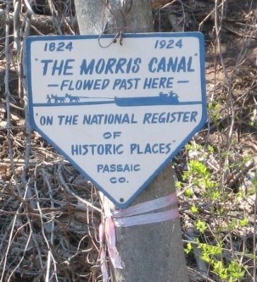 The Morris Canal Flowed Past Here image. Click for full size.