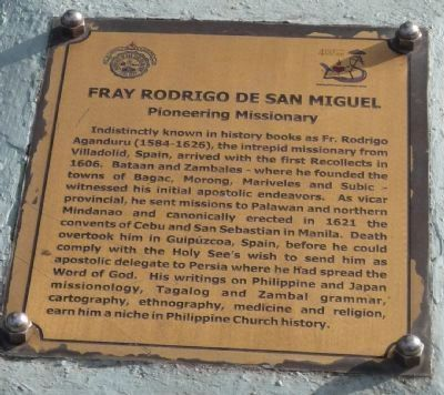 <i>Panel 1</i>: Fray Rodrigo de San Miguel: Pioneering Missionary image. Click for full size.