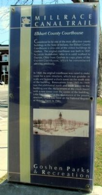 Elkhart County Courthouse Marker image. Click for full size.