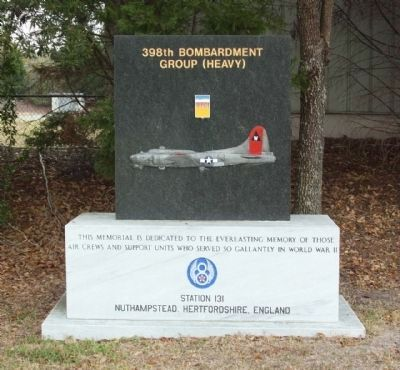 398th Bombardment Group (Heavy) Marker image. Click for full size.