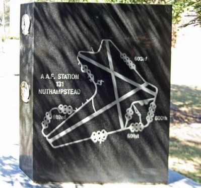 398th Bombardment Group (Heavy) Marker, backside image. Click for full size.