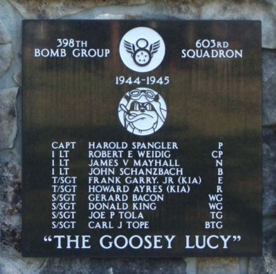 398th Bombardment Group 603rd Squadron image. Click for full size.