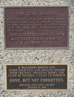 The Stag Saloon Marker image. Click for full size.