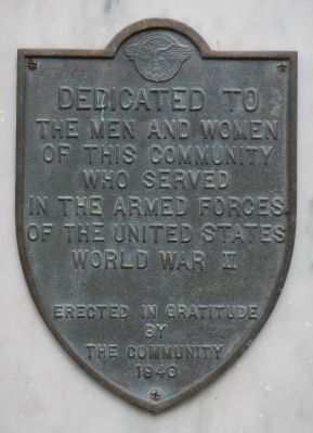 World War II Gonzales Veterans Memorial Marker image. Click for full size.