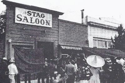 The Stag Saloon at the Time of the First Marker's Dedication image. Click for full size.