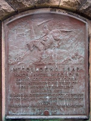 McColloch�s Leap Marker Photo, Click for full size
