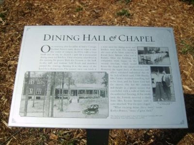 Dining Hall & Chapel Marker image. Click for full size.
