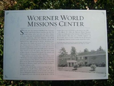Woerner World Missions Center Marker image. Click for full size.