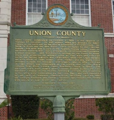 Union County Marker image. Click for full size.
