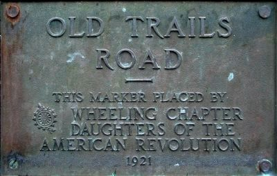 Old Trails Road Marker<br>on the bridge image. Click for full size.