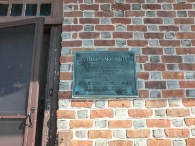 Somers Mansion Marker Photo, Click for full size
