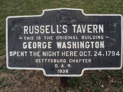 Russell's Tavern Marker image. Click for full size.