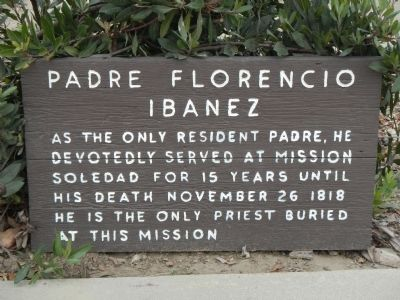 Padre Florencio Ibanez Marker image. Click for full size.