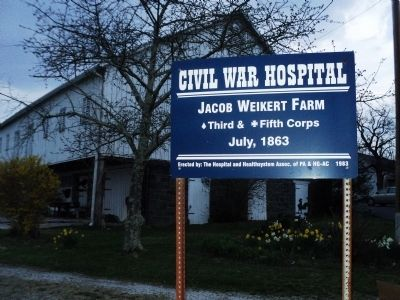 Civil War Hospital Marker image. Click for full size.
