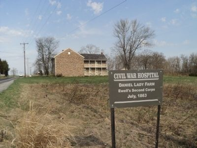 Civil War Hospital Marker Photo, Click for full size