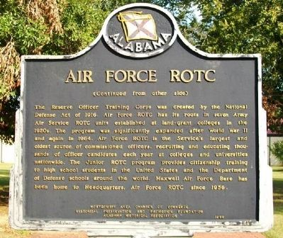 Air Force ROTC Marker (Side B) image. Click for full size.