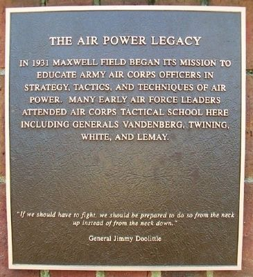 The Air Power Legacy Marker image. Click for full size.