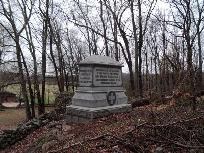 77th New York Infantry Marker (Rear View) Photo, Click for full size