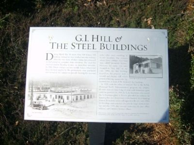 G.I. Hill & The Steel Buildings Marker image. Click for full size.