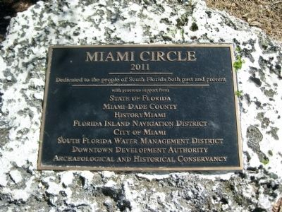 Miami Circle Park Dedication Plaque image. Click for full size.