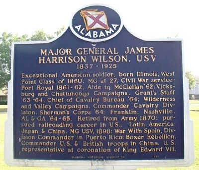 Major General James Harrison Wilson, USV Marker (Side A) image. Click for full size.