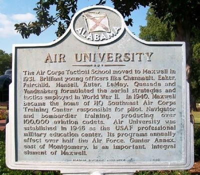 Air University Marker (Side A) image. Click for full size.