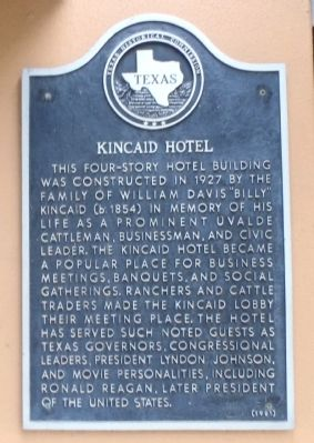 Kincaid Hotel Marker image. Click for full size.