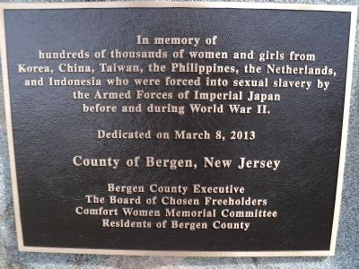 Comfort Women Marker image. Click for full size.