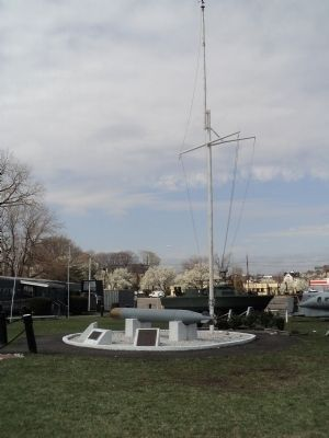 Marker at the New Jersey Naval Museum image. Click for full size.