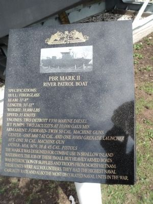 Small Jet Boats >> PBR Mark II River Patrol Boat Historical Marker