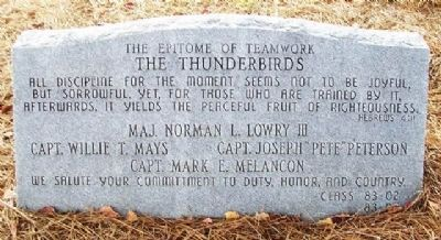 The Thunderbirds Marker image. Click for full size.
