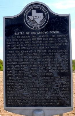 Battle of the Arroyo Hondo Marker image. Click for full size.