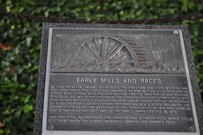 Early Mills and Races Marker image. Click for full size.