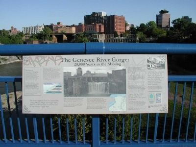 Genesee River Gorge: 20,000 Years in the Making Marker image. Click for full size.