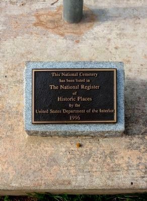 National Register Plaque<br><small>at the base of the flagpole</small> image. Click for full size.
