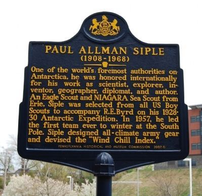 Paul Allman Siple Marker image. Click for full size.