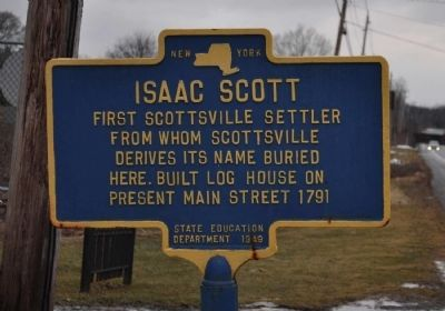 Isaac Scott Marker image. Click for full size.