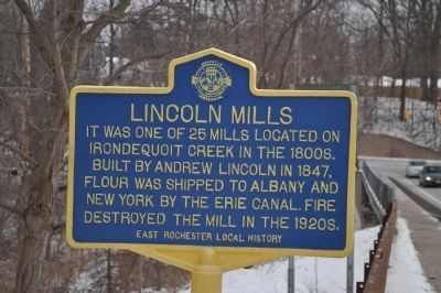 Lincoln Mills Marker image. Click for full size.