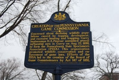 Creation of the Pennsylvania Game Commission Marker image. Click for full size.