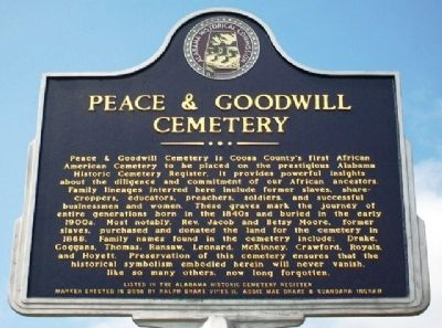 Peace & Goodwill Cemetery Marker image. Click for full size.